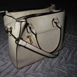 Cream Cross Body Purse